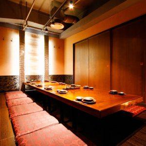 魚や 池袋西口 10〜30名の堀ごたつ式完全個室一部屋でご利用可