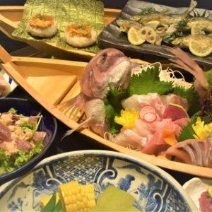 池袋の和食料理店[魚や(ととや)]の忘年会コース